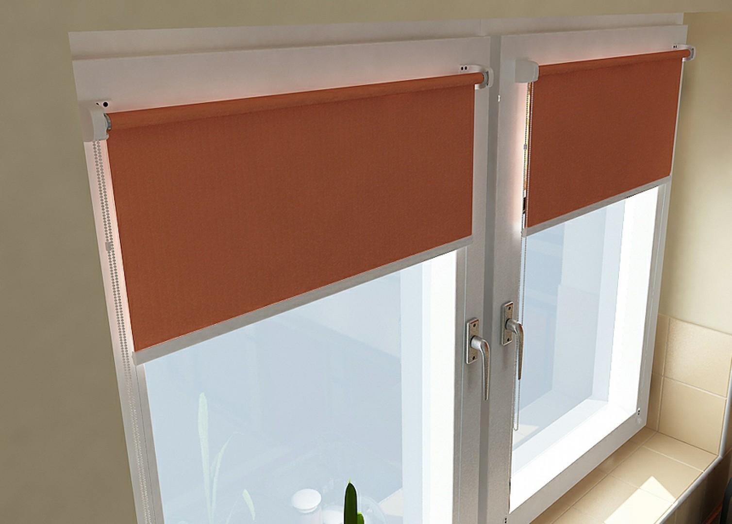 Роликовые шторы для пластиковых окон из ткани