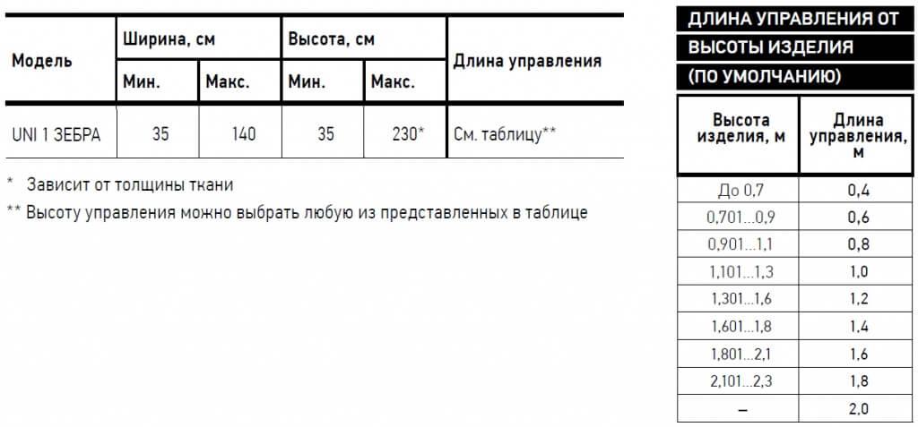Жалюзи Зебра UNI-1