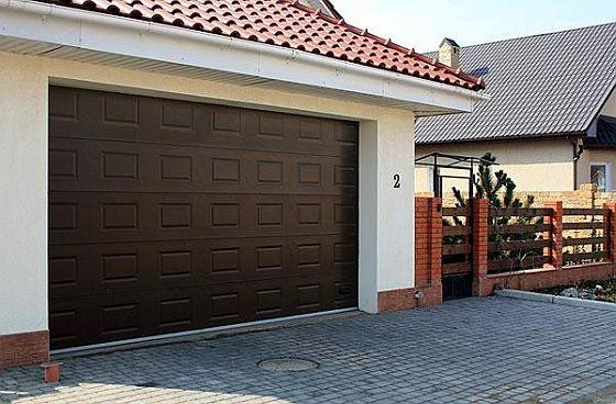автоматические секционные ворота для гаража